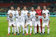 NANNING, CHINA - MARCH 22: Players of Uruguay line up for team photos prior to 2019 China Cup International Football Championship between Uruguay and Uzbekistan at Guangxi Sports Center on March 22, 2019 in Nanning, China. (Photo by Zhizhao Wu/Getty Images)