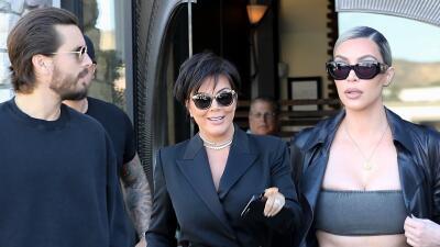 Mientras Kourtney huye de las tarántulas, Kim Kardashian y Kris Jenner almuerzan con su ex