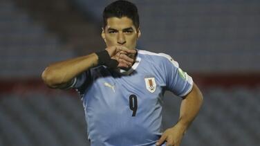 Luis Suárez no jugará ante Brasil ni Barcelona por COVID-19