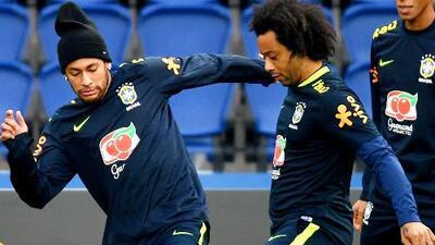 ¡Lo que nos espera en el Mundial! La magia de Marcelo y Neymar en práctica de Brasil