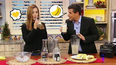 Marco Antonio Regil nos compartió su receta exclusiva de leche de plátano