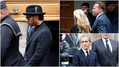 Hamilton, Schwarzenegger, Prost y otras estrellas en el funeral de Niki Lauda