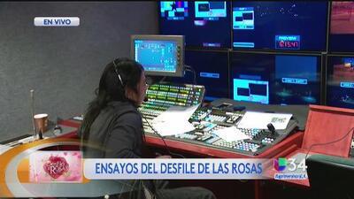 Ensayos para la transmisión en vivo del Desfile de las Rosas
