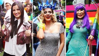 Maite Perroni, Malillany, Lyn May y más celebridades se dieron cita en la Marcha del Orgullo Gay en México