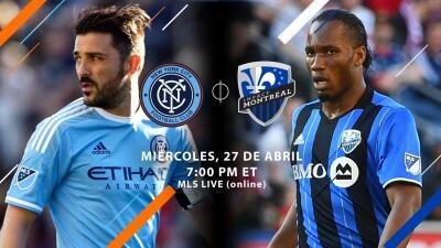 David Villa y Didier Drogba se enfrentan en acción de la Jornada 9 de MLS a mitad de semana