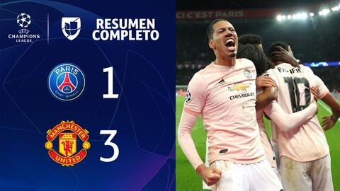PSG 1- 3 MANCHESTER UNITED – GOLES Y RESUMEN – VUELTA OCTAVOS DE FINAL – UEFA Champions League