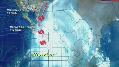 """""""Newton"""" aterroriza a los habitantes de Baja California Sur"""