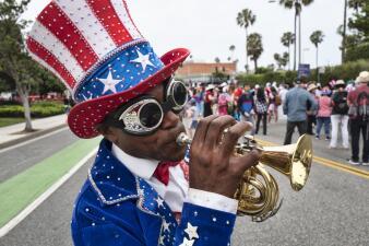 En fotos: patriotismo y nerviosismo, los protagonistas del 4 de julio en el sur de California