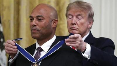 Mariano Rivera recibe la Medalla de la Libertad