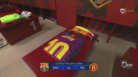¡Brillan! Camerinos listos en el Camp Nou para recibir a las figuras del Barcelona y el United