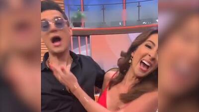 El video donde Pipe Bueno le roba un beso en la boca a Maity Interiano