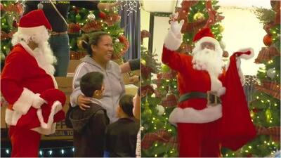El Papá Noel de Primer Impacto visitó a los niños de una comunidad hispana en Florida