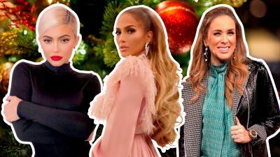 En fotos, así lucen los árboles de Navidad de los famosos