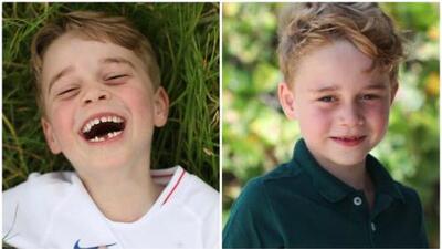 El príncipe George cumplió 6 años y Kate Middleton lo retrató 'chimuelo'