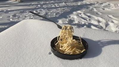 Cuando el frío es tan fuerte que no puedes ni llevarte la comida a la boca