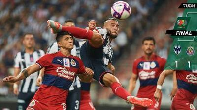Las Chivas rescatan empate en Monterrey