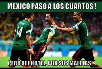Los memes del partido de México contra Brasil en el Mundial
