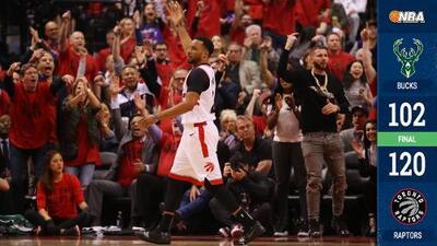 Los Raptors frenan en seco a los Bucks y empatan la Final del Este