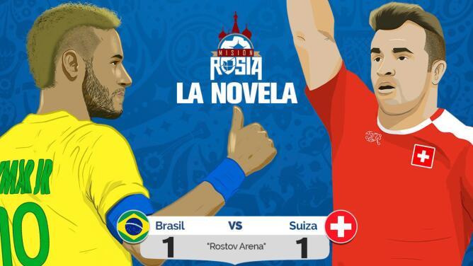Suiza sorprendió y empató con el favorito Brasil