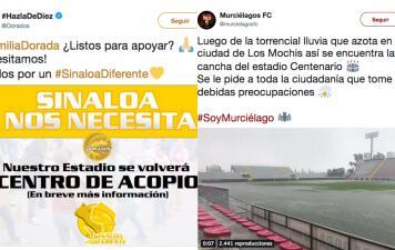 El deporte se une para pedir apoyo para los damnificados por intensas lluvias en Sinaloa