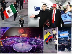 Los Juegos de Pyeongchang fueron inaugurados con tensión política y presencia latina