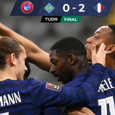 Francia se impuso 0-2 a Kazajistán y Kylian Mbappé falló un penal