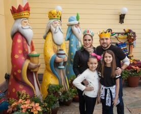 Poncho Lizárraga disfrutó el 'Día de Reyes' en familia