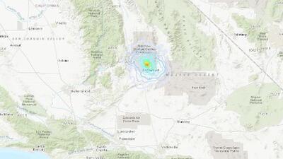 Sismo de magnitud 3.6 en zona cercana a Ridgecrest, California