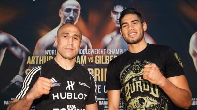Gilberto 'Zurdo' Ramírez y Oscar Valdez afinan detalles