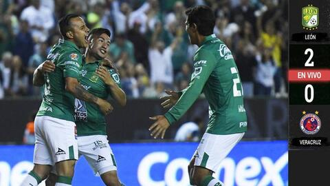 León 2-0 Veracruz – GOLES Y RESUMEN – Jornada 11 – Liga MX
