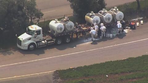 Reabren la circulación en la carretera I-880 tras derrame de ácido