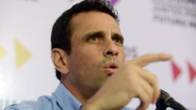 'Nicolás, a ti no te eligieron presidente', acusó Henrique Capriles