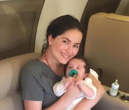 Danna García pudo poner a salvo a su bebé del huracán Irma
