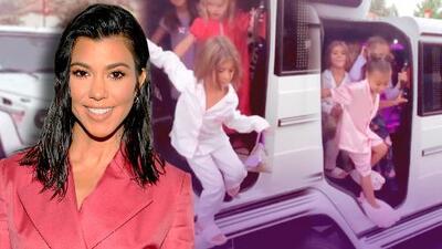 En pijama y viajando en limusina: mira la singular fiesta que Kourtney Kardashian le hizo a su hija