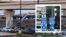 Cierran la rampa que conecta la 59 y la 610 en Houston hasta finales de 2021
