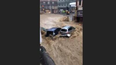 Inundaciones en Maryland: El río de agua que se llevó todo lo que encontró a su paso