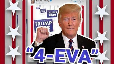 """""""Trump 4eva"""": el presidente muestra que se quiere quedar """"por siempre"""" en video de campaña"""