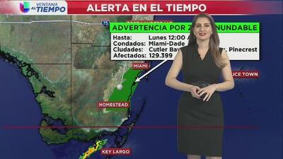 Se mantiene la advertencia por zona inundable en el condado de Miami-Dade