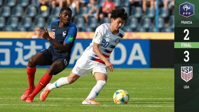 En un partidazo, Estados Unidos dio la sorpresa y eliminó a Francia del Mundial Sub-20