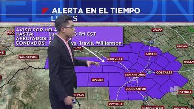 San Antonio arranca la semana con bajas temperaturas y un aviso de helada