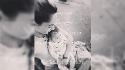 Bárbara Mori anda feliz con su nieta