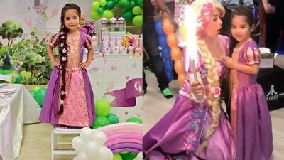 """""""Se sentía la misma Rapunzel"""": Ana Patricia contó lo mucho que su pequeña disfrutó su fiesta de 4 años"""