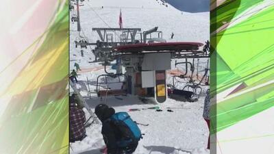 IMÁGENES MUY FUERTES: Accidente en teleférico de Georgia deja a ocho esquiadores con severas lesiones.