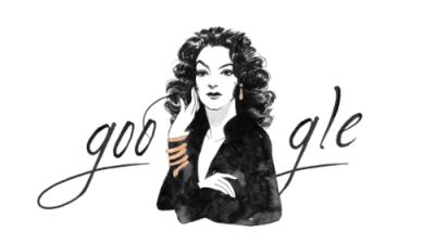Google celebra los 104 años de la diva mexicana María Félix con un doodle