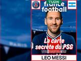 France Football le pone a Lionel Messi la camiseta del París Saint-Germain