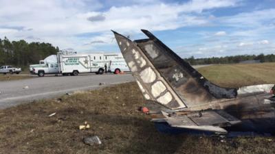 Cinco personas mueren al desplomarse avioneta en el centro de Florida