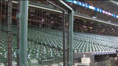 Opiniones encontradas entre espectadores por la instalación de una nueva malla de protección en el estadio Minute Maid