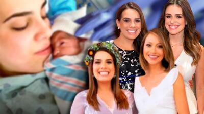 Los tiernos mensajes para Andrea Chediak de su familia de Despierta América para darle la bienvenida a 'baby Diego'