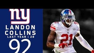 #92 London Collins (SS, Giants) | Top 100 Jugadores NFL 2018