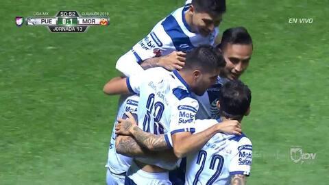 ¡GOOOL! Daniel Arreola anota para Puebla